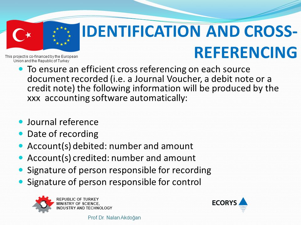 IDENTIFICATION AND CROSS-REFERENCING