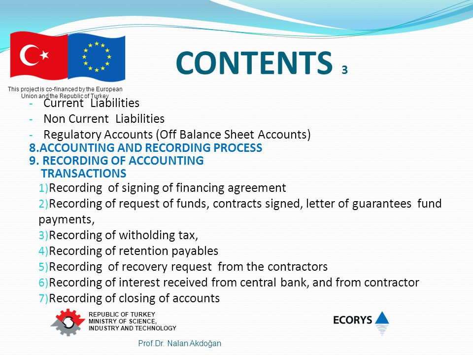 CONTENTS 3 Current Liabilities Non Current Liabilities