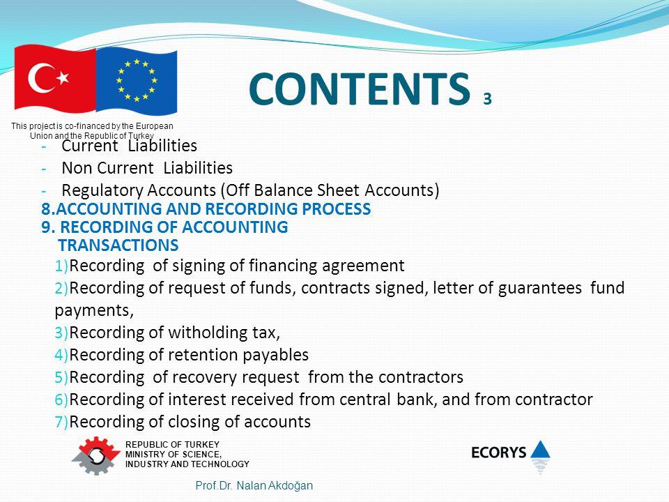 CONTENTS 3 Current Liabilities Non Current Liabilities