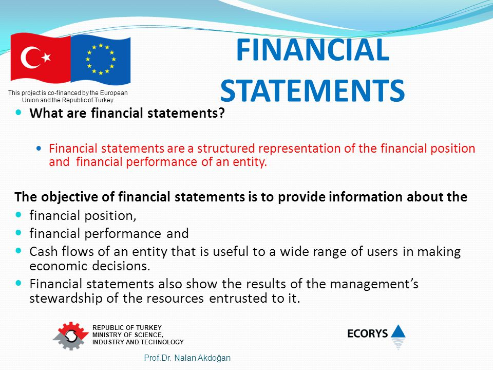 FINANCIAL STATEMENTS What are financial statements