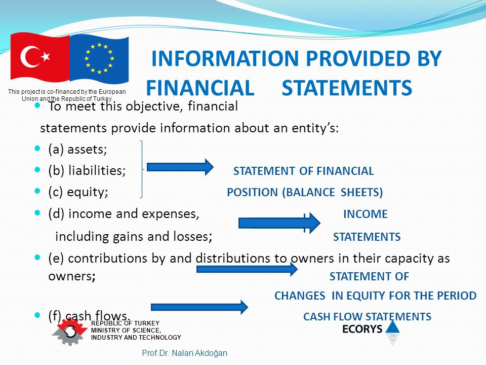 INFORMATION PROVIDED BY FINANCIAL STATEMENTS