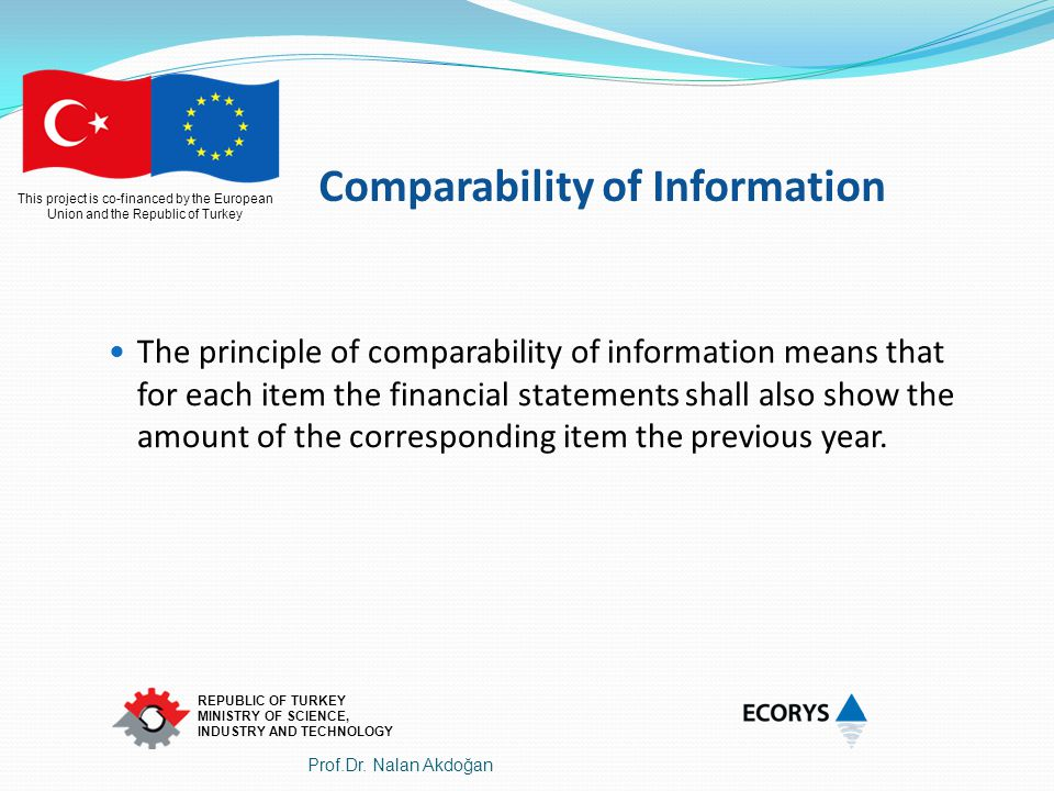 Comparability of Information