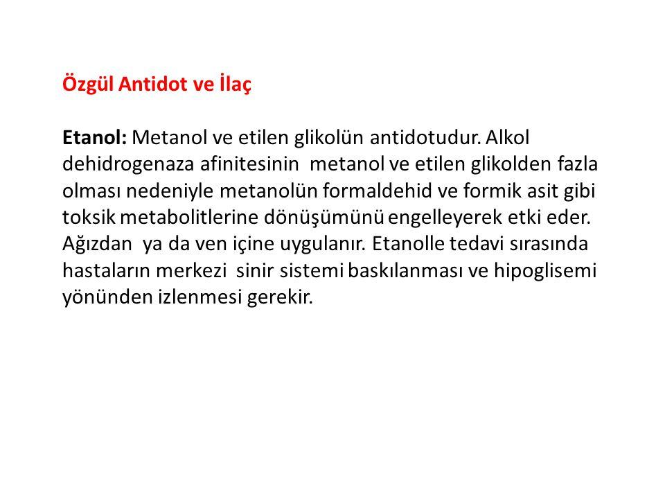 Özgül Antidot ve İlaç