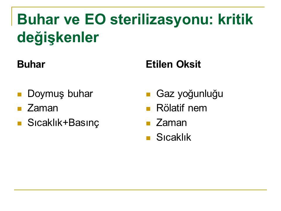 Buhar ve EO sterilizasyonu: kritik değişkenler