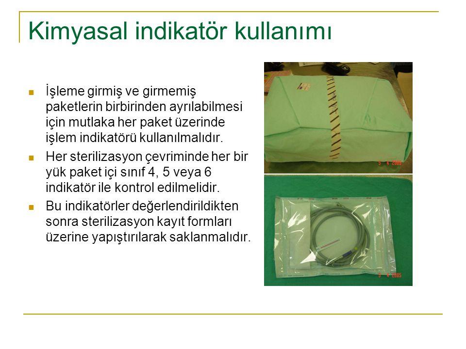 Kimyasal indikatör kullanımı
