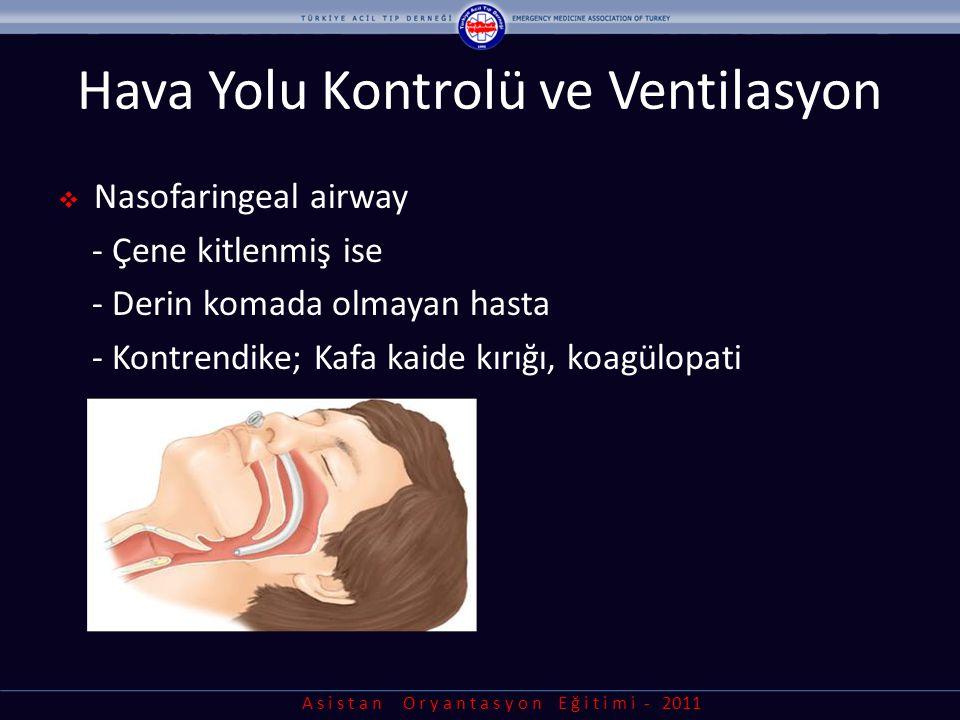 Hava Yolu Kontrolü ve Ventilasyon