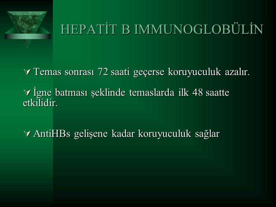 HEPATİT B IMMUNOGLOBÜLİN