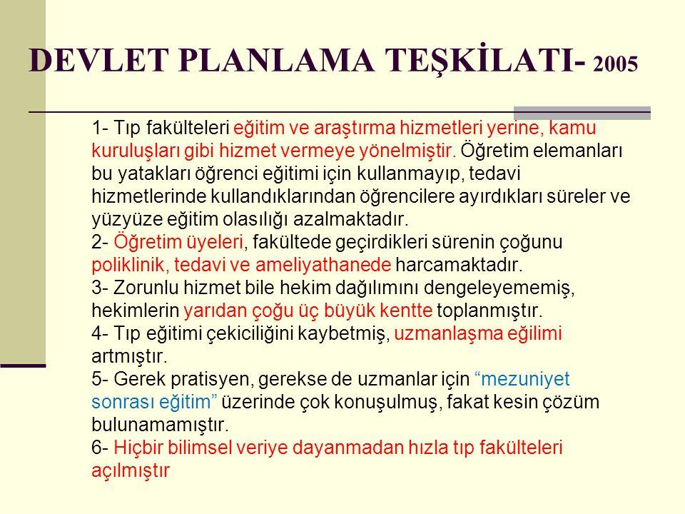 DEVLET PLANLAMA TEŞKİLATI- 2005