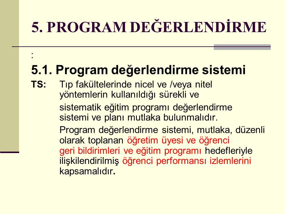 5. PROGRAM DEĞERLENDİRME
