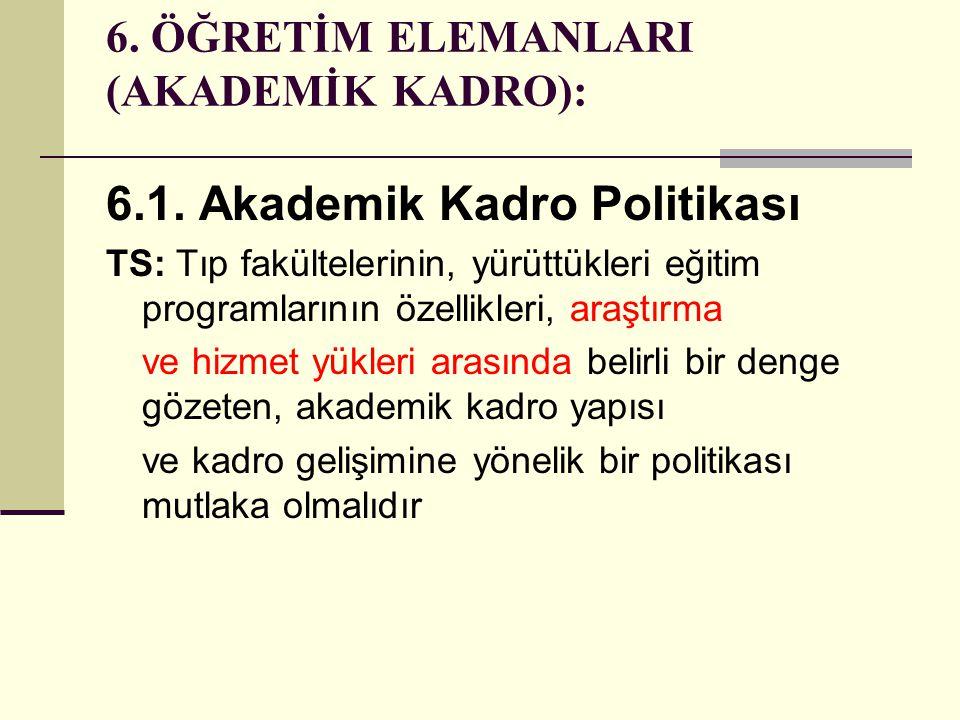6. ÖĞRETİM ELEMANLARI (AKADEMİK KADRO):