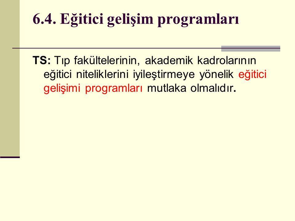 6.4. Eğitici gelişim programları