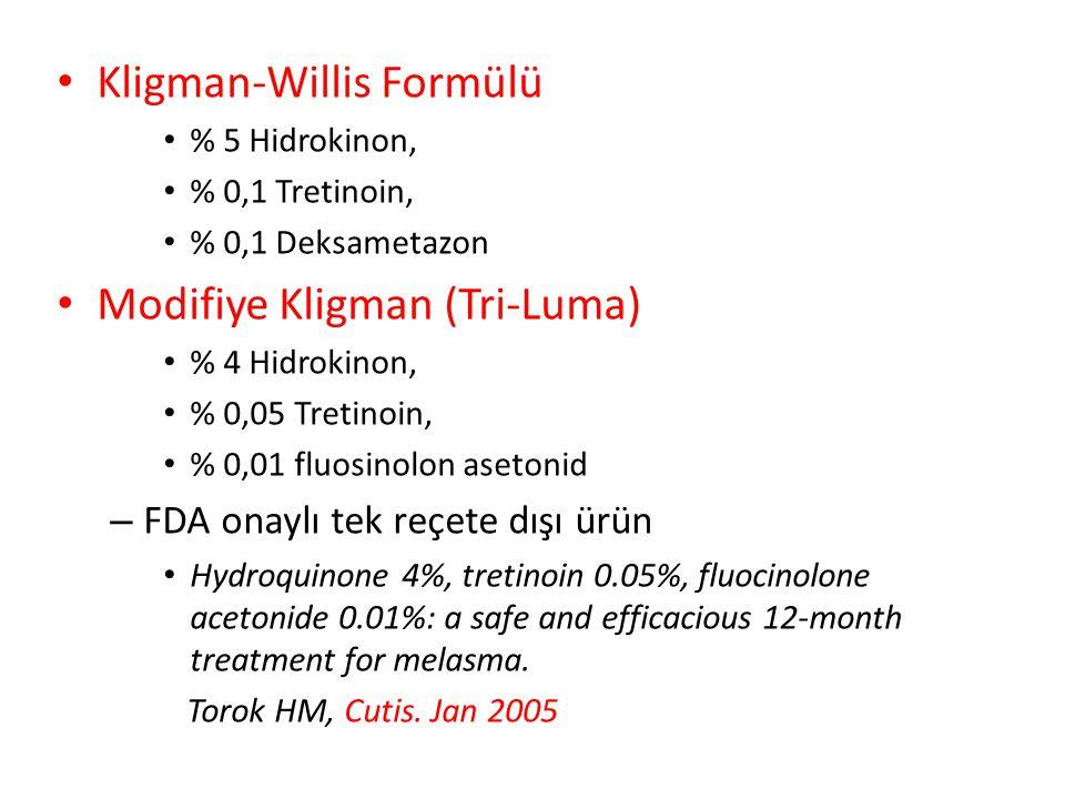 Kligman-Willis Formülü