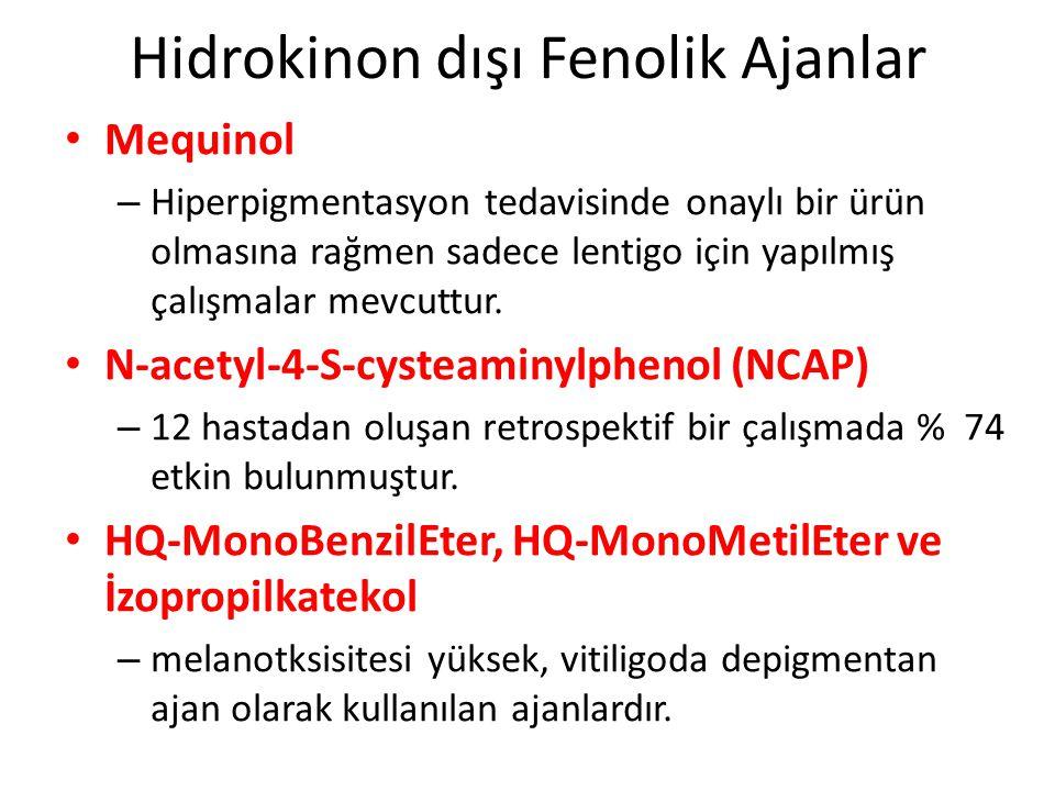 Hidrokinon dışı Fenolik Ajanlar