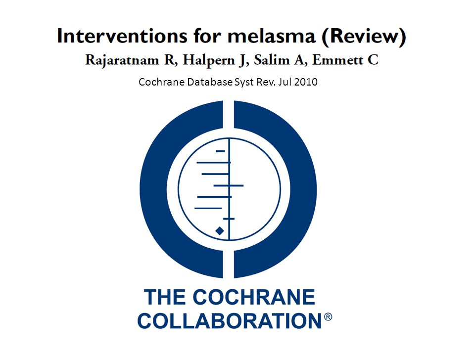 Cochrane Database Syst Rev. Jul 2010