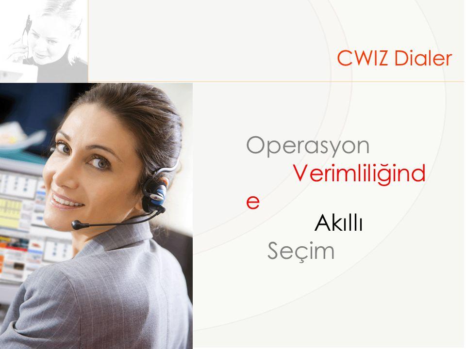 CWIZ Dialer Operasyon Verimliliğinde Akıllı Seçim