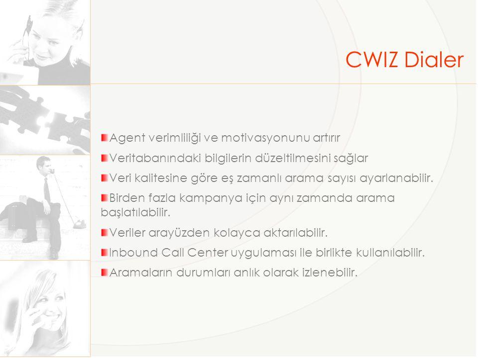 CWIZ Dialer Agent verimliliği ve motivasyonunu artırır