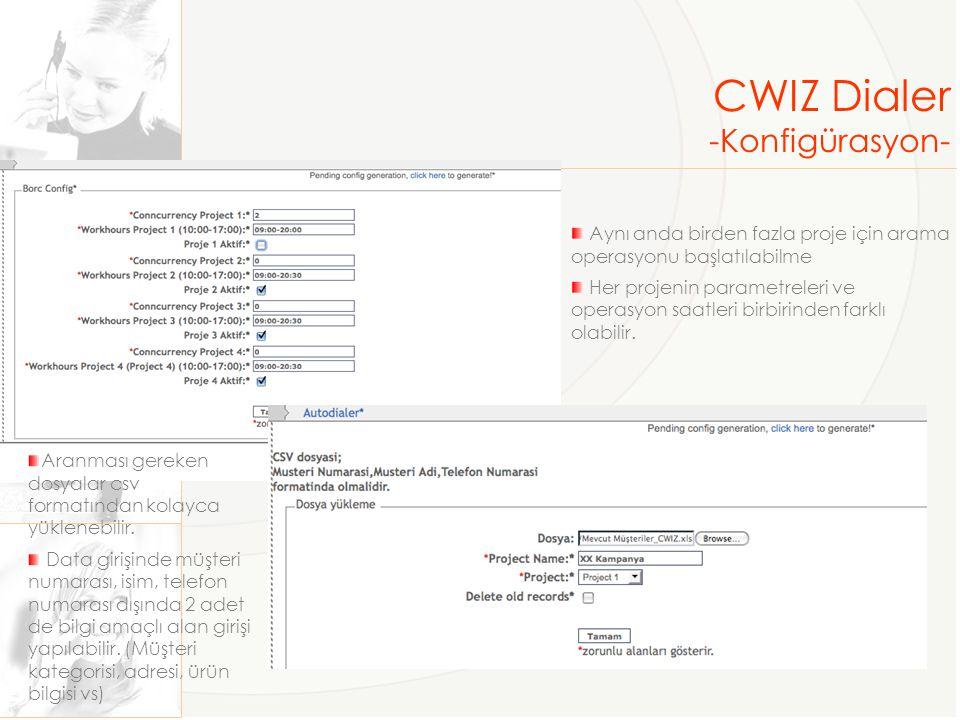 CWIZ Dialer -Konfigürasyon-
