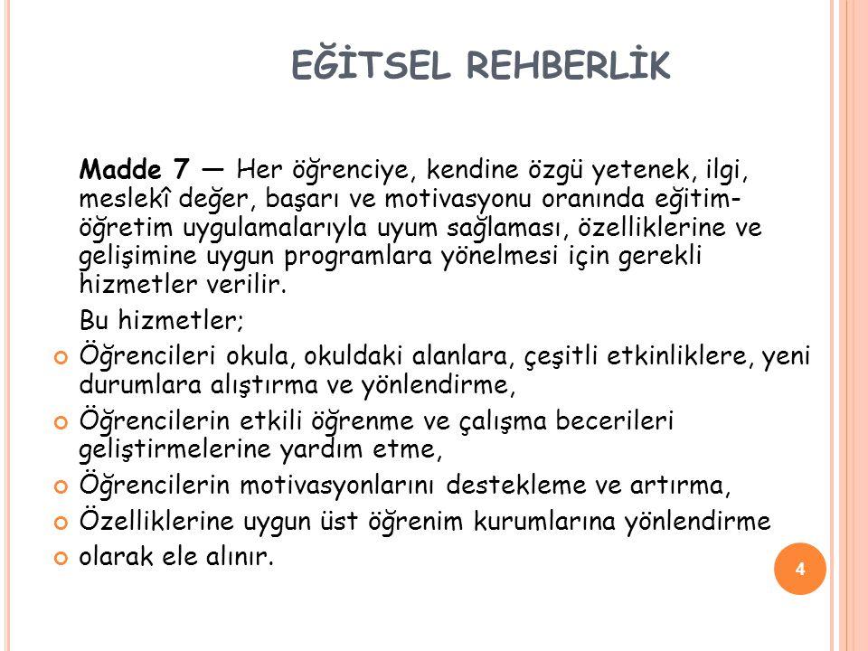EĞİTSEL REHBERLİK