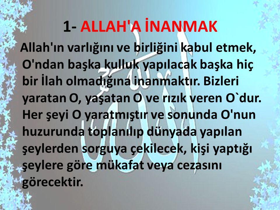 1- ALLAH A İNANMAK