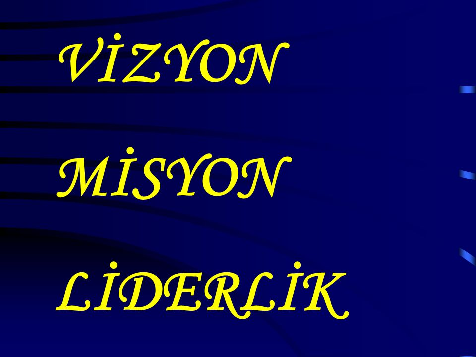 VİZYON MİSYON LİDERLİK