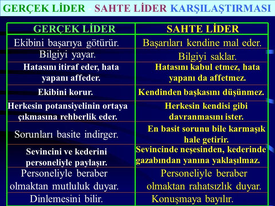 GERÇEK LİDER SAHTE LİDER