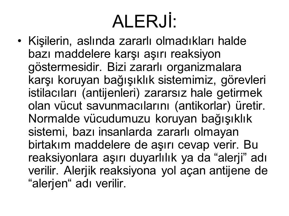 ALERJİ:
