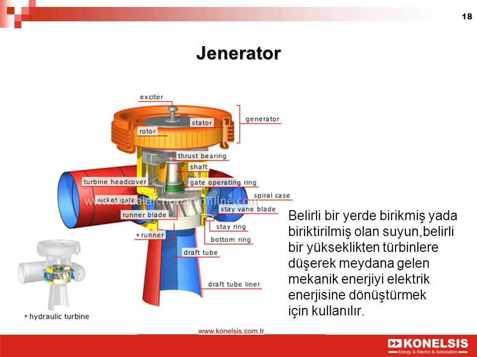 Jenerator Belirli bir yerde birikmiş yada