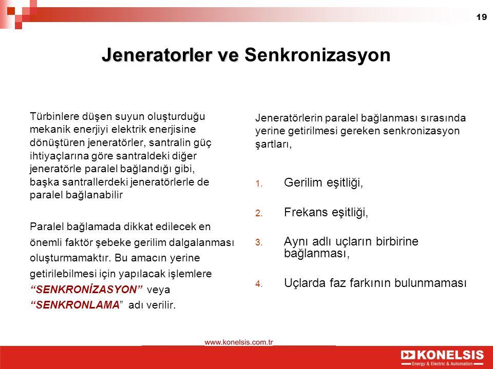 Jeneratorler ve Senkronizasyon