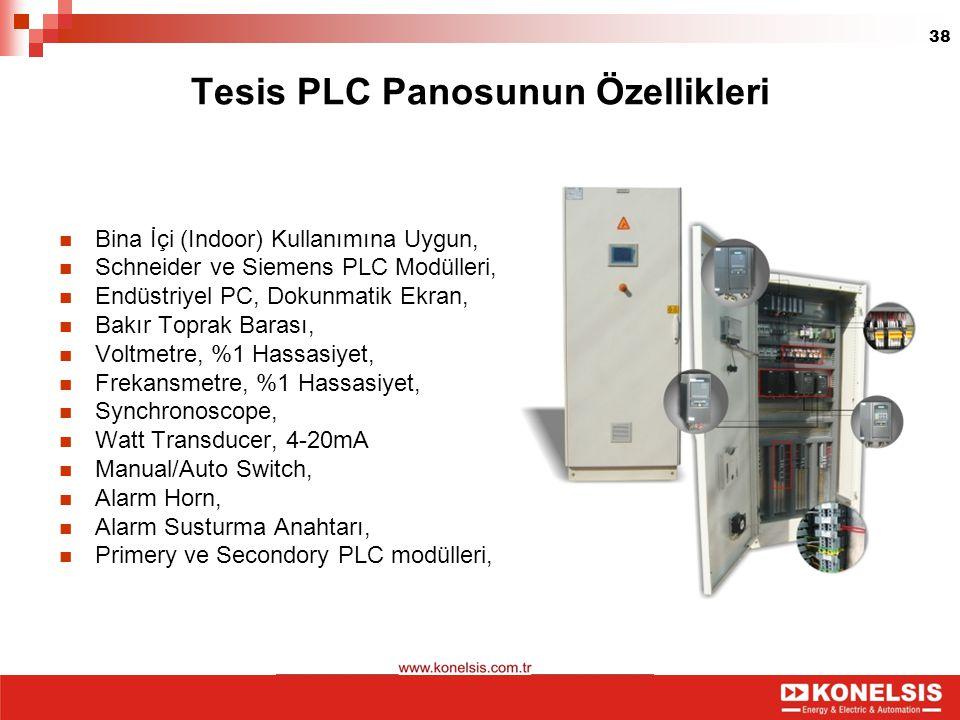 Tesis PLC Panosunun Özellikleri