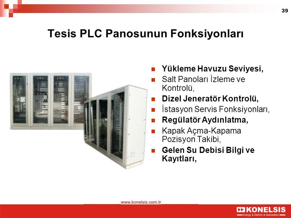 Tesis PLC Panosunun Fonksiyonları