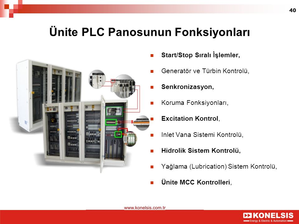 Ünite PLC Panosunun Fonksiyonları