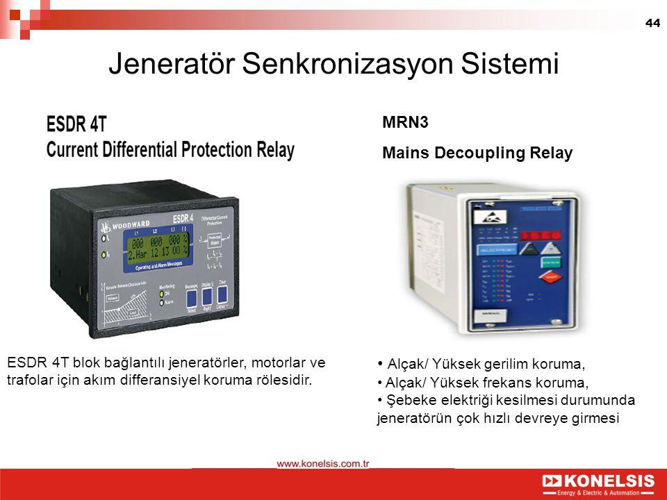 Jeneratör Senkronizasyon Sistemi