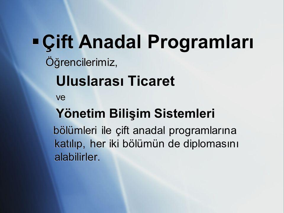 Çift Anadal Programları