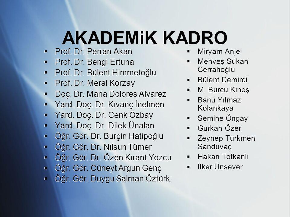 AKADEMiK KADRO Prof. Dr. Perran Akan Prof. Dr. Bengi Ertuna