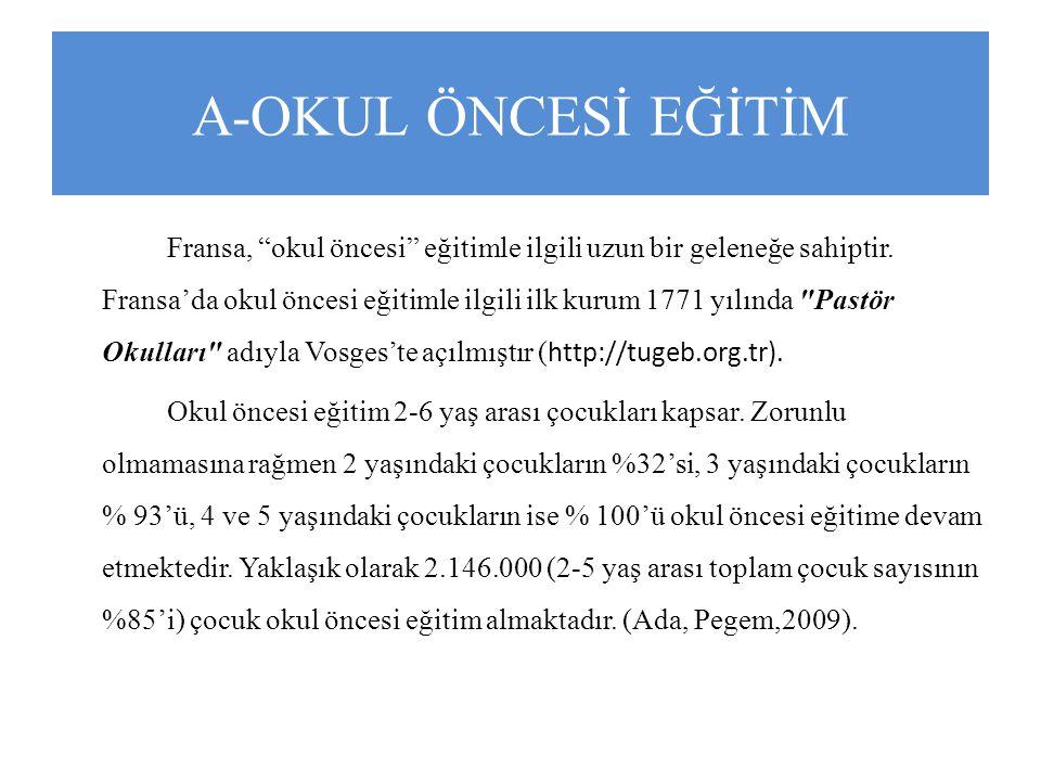 A-OKUL ÖNCESİ EĞİTİM