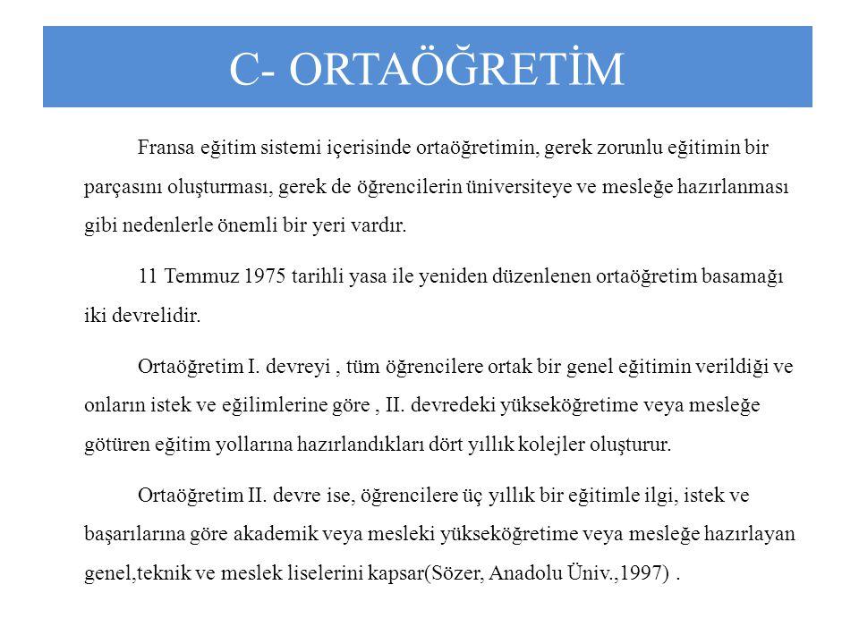 C- ORTAÖĞRETİM