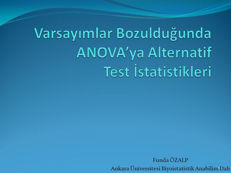 Varsayımlar Bozulduğunda ANOVA'ya Alternatif Test İstatistikleri