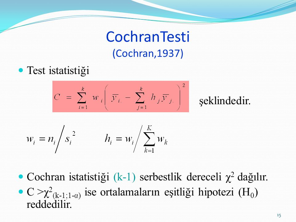 CochranTesti (Cochran,1937)