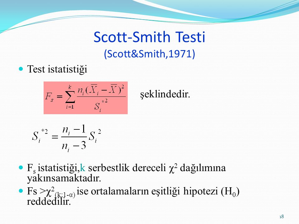 Scott-Smith Testi (Scott&Smith,1971)