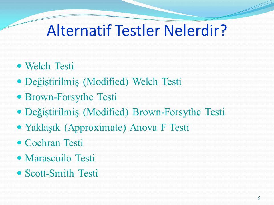 Alternatif Testler Nelerdir