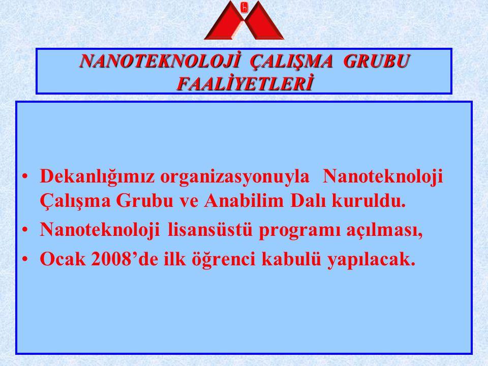 NANOTEKNOLOJİ ÇALIŞMA GRUBU FAALİYETLERİ