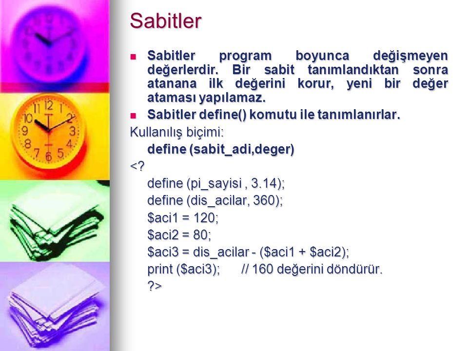 Sabitler