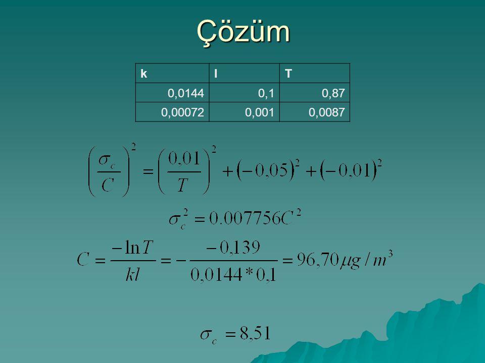 Çözüm k l T 0,0144 0,1 0,87 0,00072 0,001 0,0087