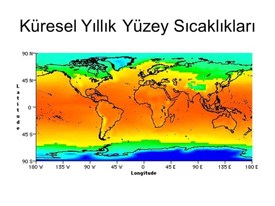 Küresel Yıllık Yüzey Sıcaklıkları