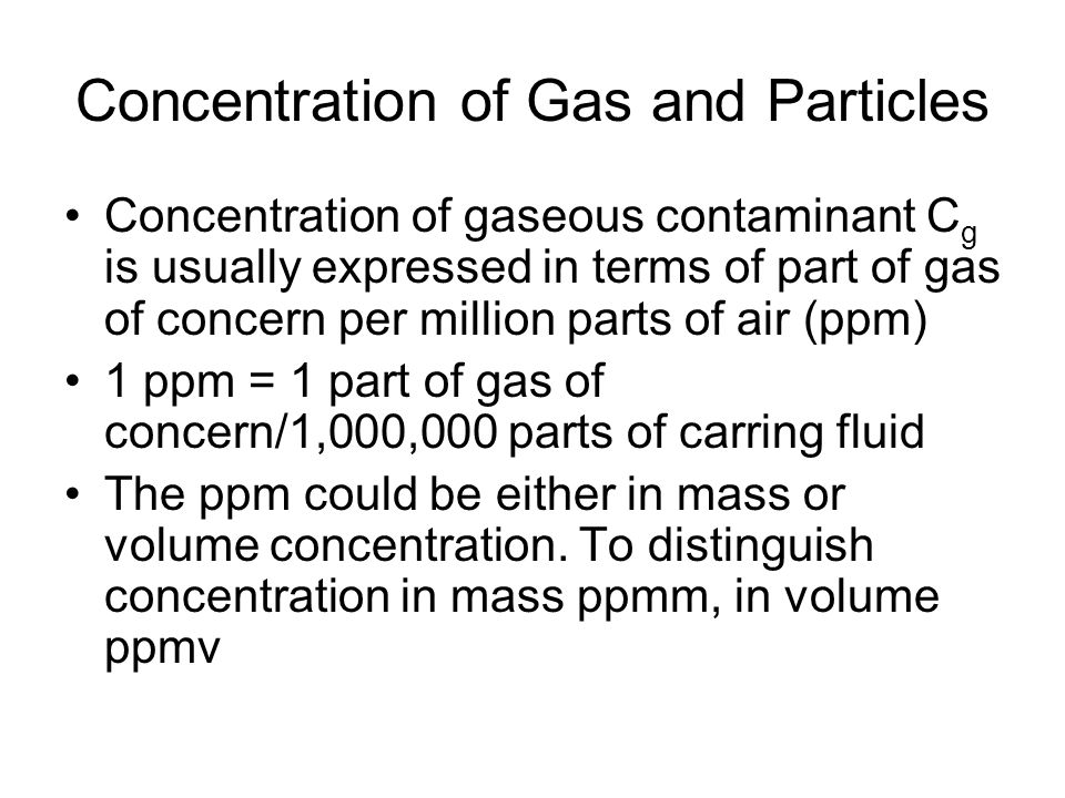 Concentration of Gas and Particles