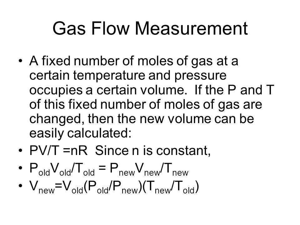 Gas Flow Measurement