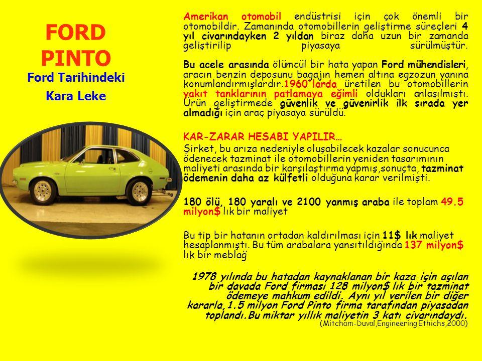 FORD PINTO Ford Tarihindeki Kara Leke