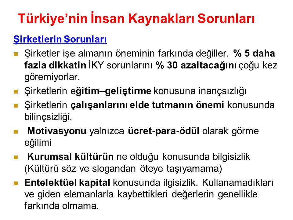 Türkiye'nin İnsan Kaynakları Sorunları