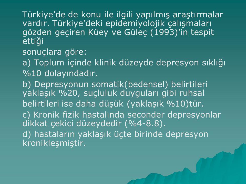 Türkiye'de de konu ile ilgili yapılmış araştırmalar vardır