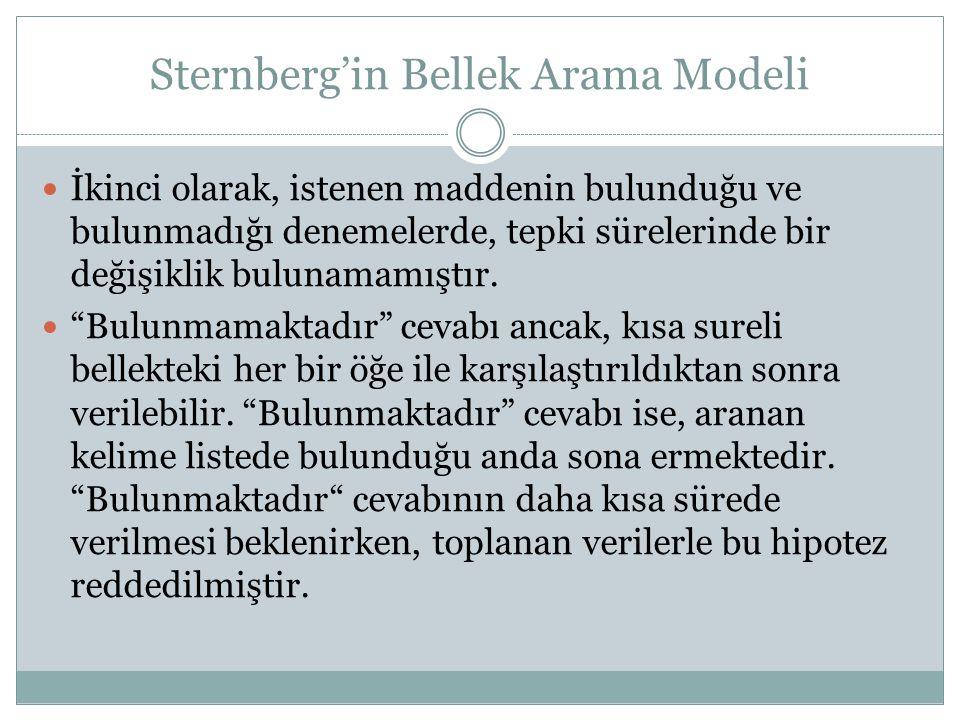 Sternberg'in Bellek Arama Modeli